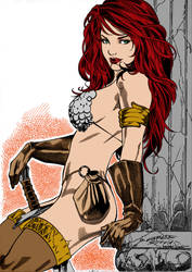 Red Sonja By Waldenwong