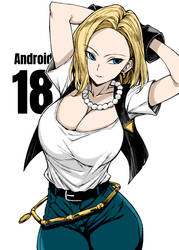 Android 18 By Unknown by Kenkira