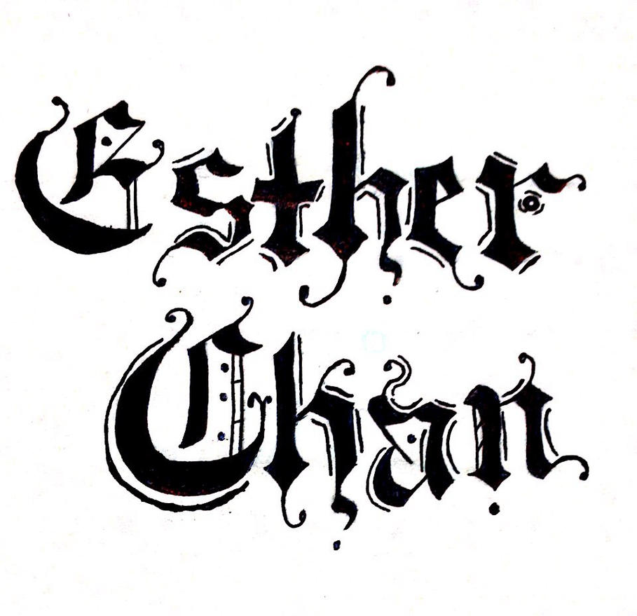 My name in calligraphy old english fashion by
