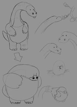 sketching random things: Brachioglobusaurus