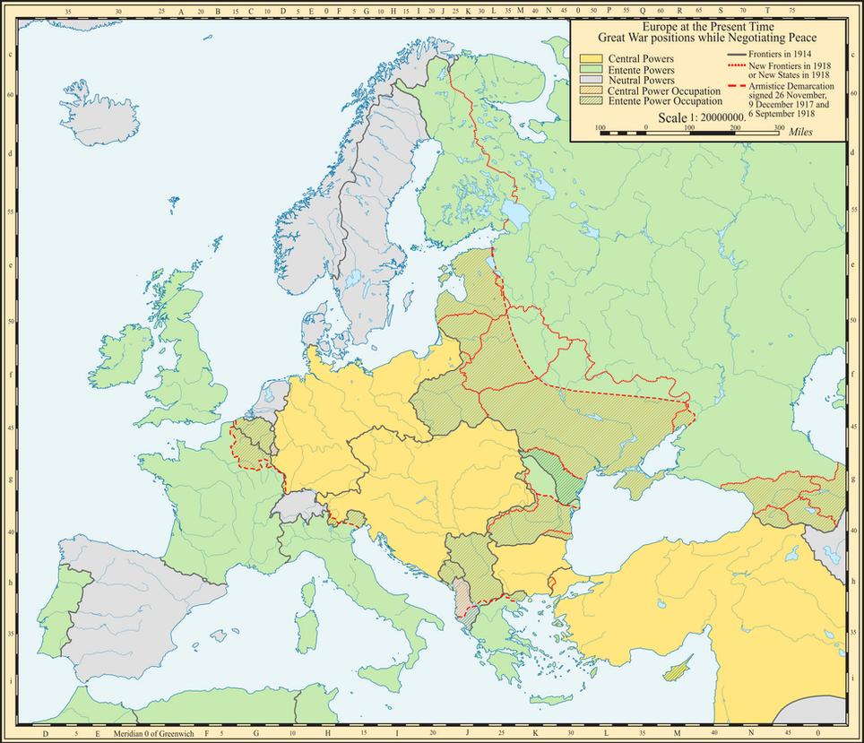 Armistice lines in Europe 1918 by Jake456 on DeviantArt