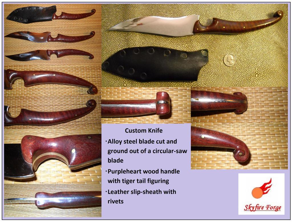 Tigertail Purpleheart Knife