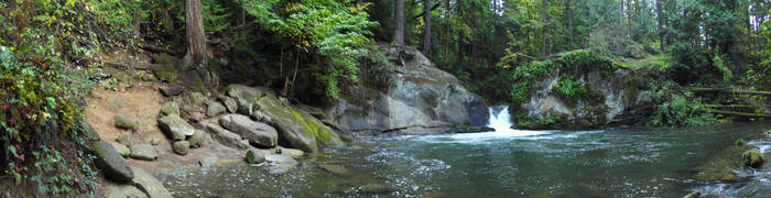 Pano of the whirlpool and falls in WFP by SkyfireDragon