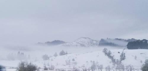 Snow and fog by SkyfireDragon