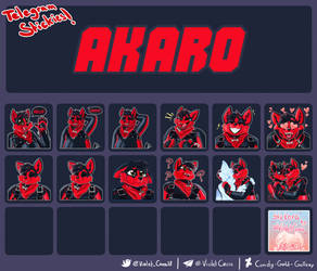 COMMISSION: Akaro's Stickers
