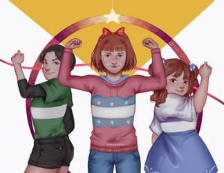 Weighlifting Fairy Kim Bok Joo X Powerpuff girls by CeePandan
