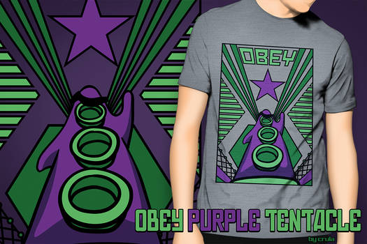 OBEY Purple Tentacle