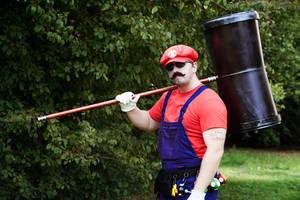 Powerup and Hammer of Badass Mario