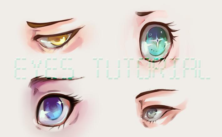 Eye tutorial: drawing and digitally coloring eyes