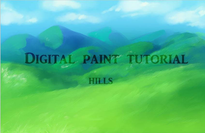 Background Tutorial: Hills Digital Painting by twintail on DeviantArt