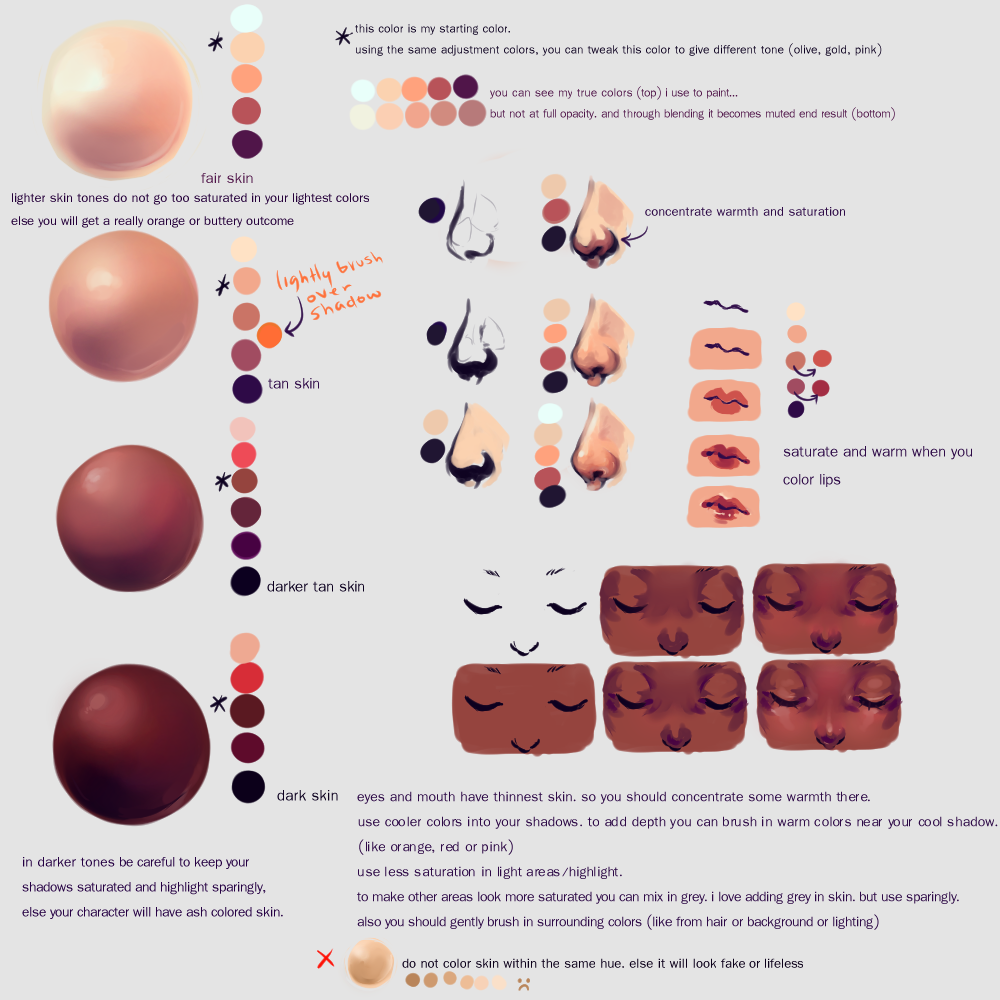 This is an image of Rare Skin Color Pallete Drawing
