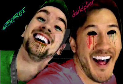 antisepticeye and darkiplier by animalsarelife666
