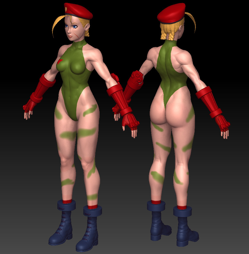 Cammy sculpt wip 7 by Jiggeh