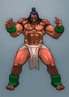 Fighting game character design 04 by Jiggeh