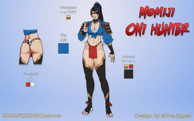 DOA6 Design Contest 2019: Momiji - Oni Hunter