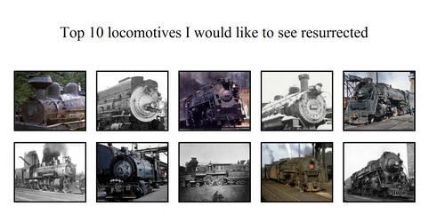 Top 10 locomotives to resurrect by NTSEFAN