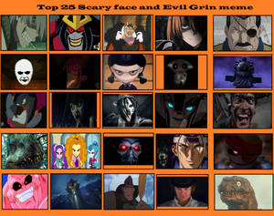 Top 25 Scary face and evil grins 3