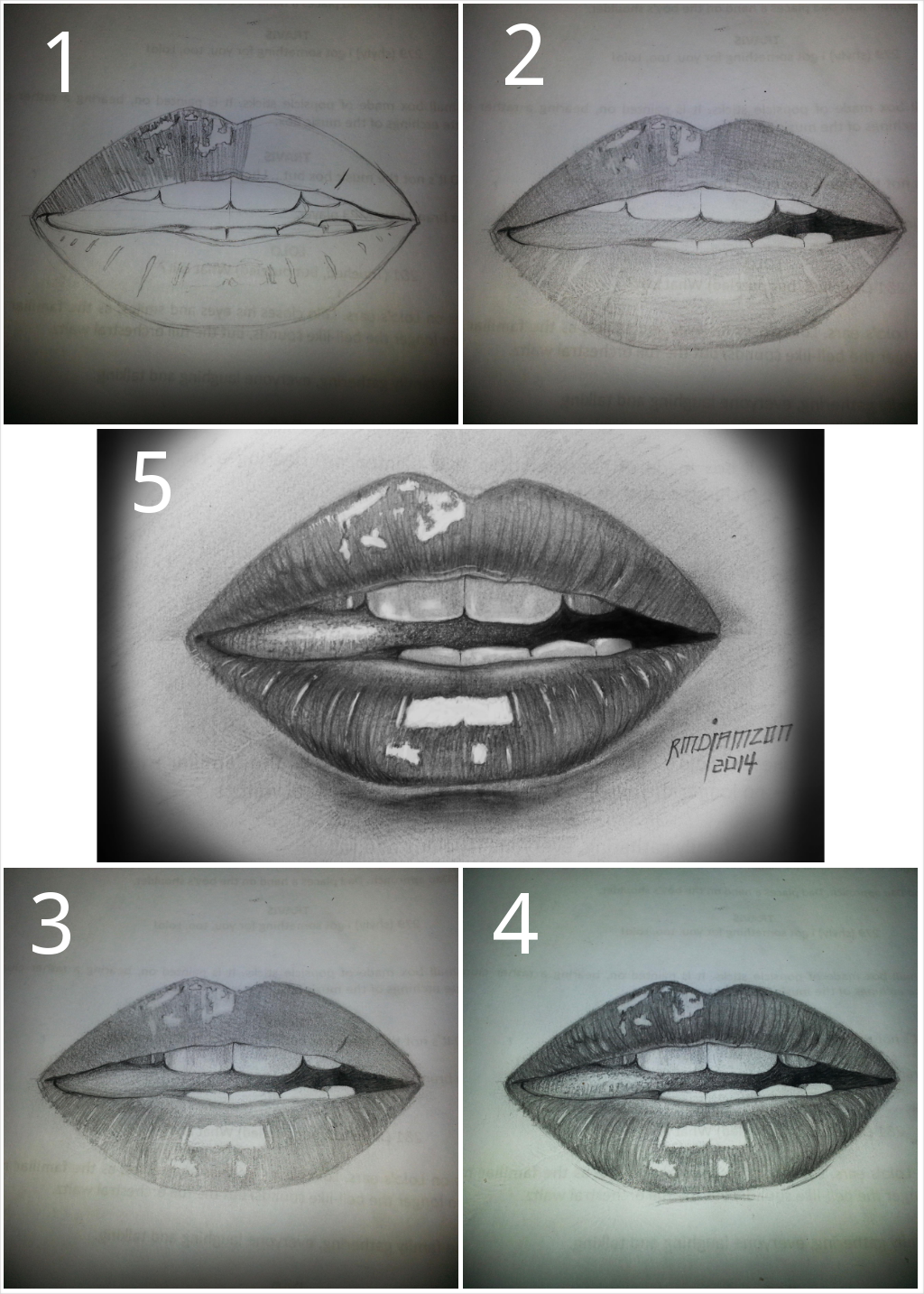 Simple Lips Drawing Step By Step By Ryandiamzonart On Deviantart