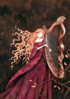 harpist by cathydelanssay