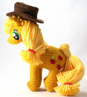 Second Applejack - Knitted Plush by SparkAbsurd