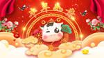 Niu Nian Ru Yi | CNY | Greeting | Wallpaper by ryushurei