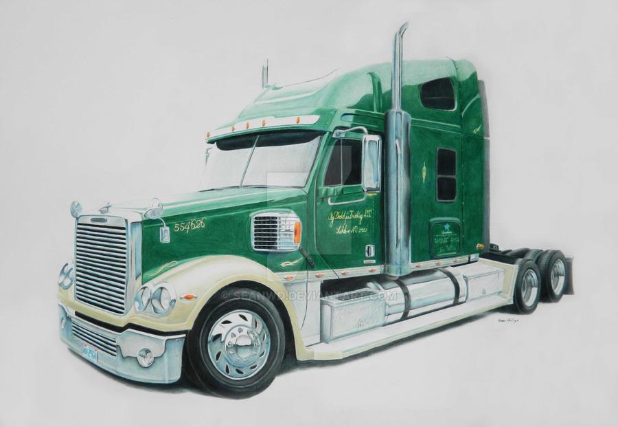 Semi Tractor Drawings : Semi truck by seanwd on deviantart