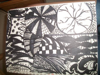 Another Zentangle by mollygator24