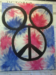 Peace and Tye Dye Mickey Ears by mollygator24