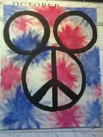 Peace and Tye Dye Mickey Ears