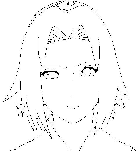 Sakura Kinomoto Lineart by suletyel on DeviantArt