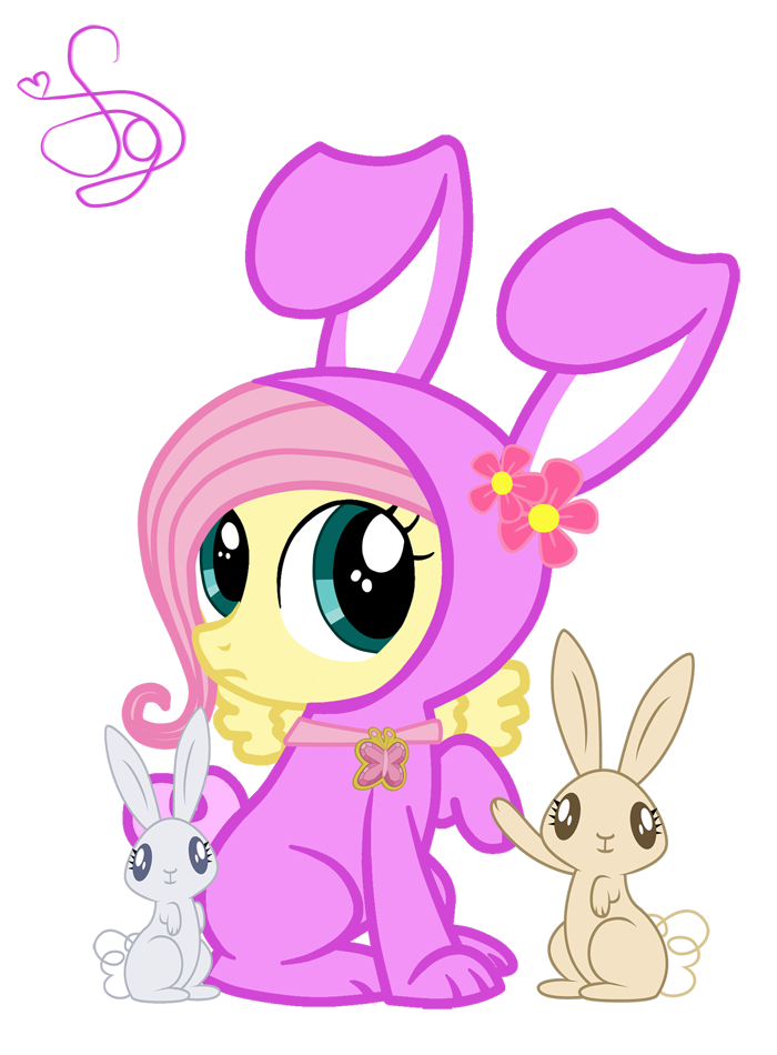 Fluttershy Rabbit by KristieSparcle