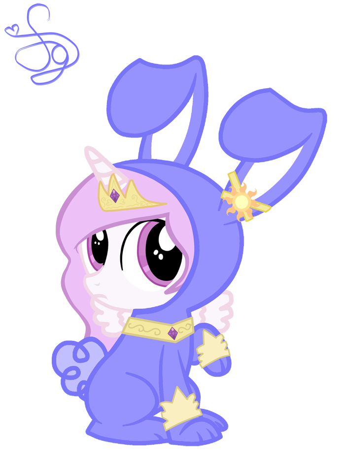 Princess Celestia Rabbit by KristieSparcle