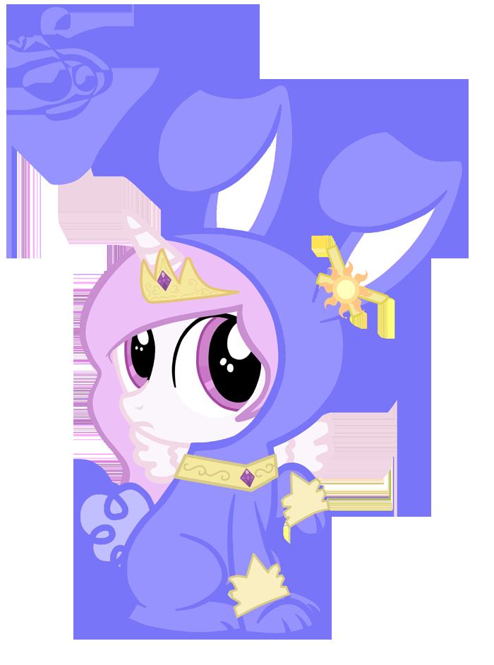 Princess Celestia Rabbit by KristieSparcle