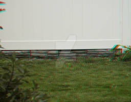 3D Grass, fence, and bush