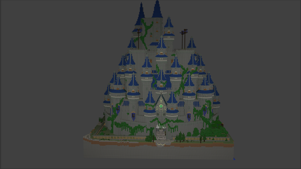 Minecraft Castle Blender Render (wide)