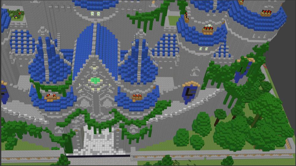 Minecraft Castle Blender Render (front entrance)
