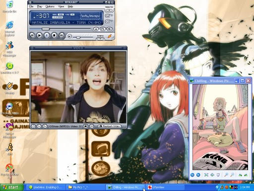 my desktop on Moosic by PlayWithSquirels