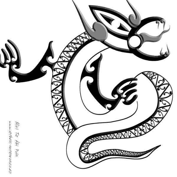 maori taniwha by dragonaotearoa on deviantart. Black Bedroom Furniture Sets. Home Design Ideas