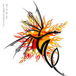 Tribal Style Dragon by DragonAotearoa