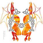 Celtic dragons by DragonAotearoa