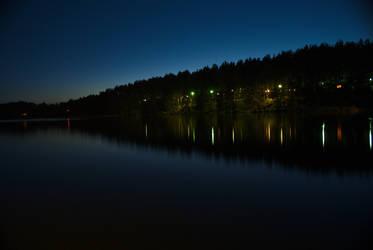 Lake at night by elgregorPL