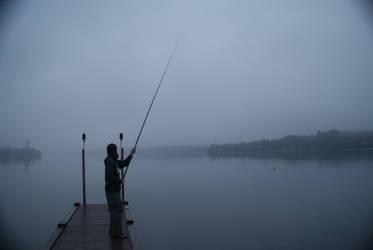 Fishing in the fog by elgregorPL