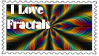 I Love Fractals Stamp by terrye634