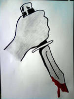 Bloody hand by ElNapoleoni