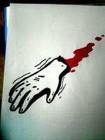 Hand blood by ElNapoleoni