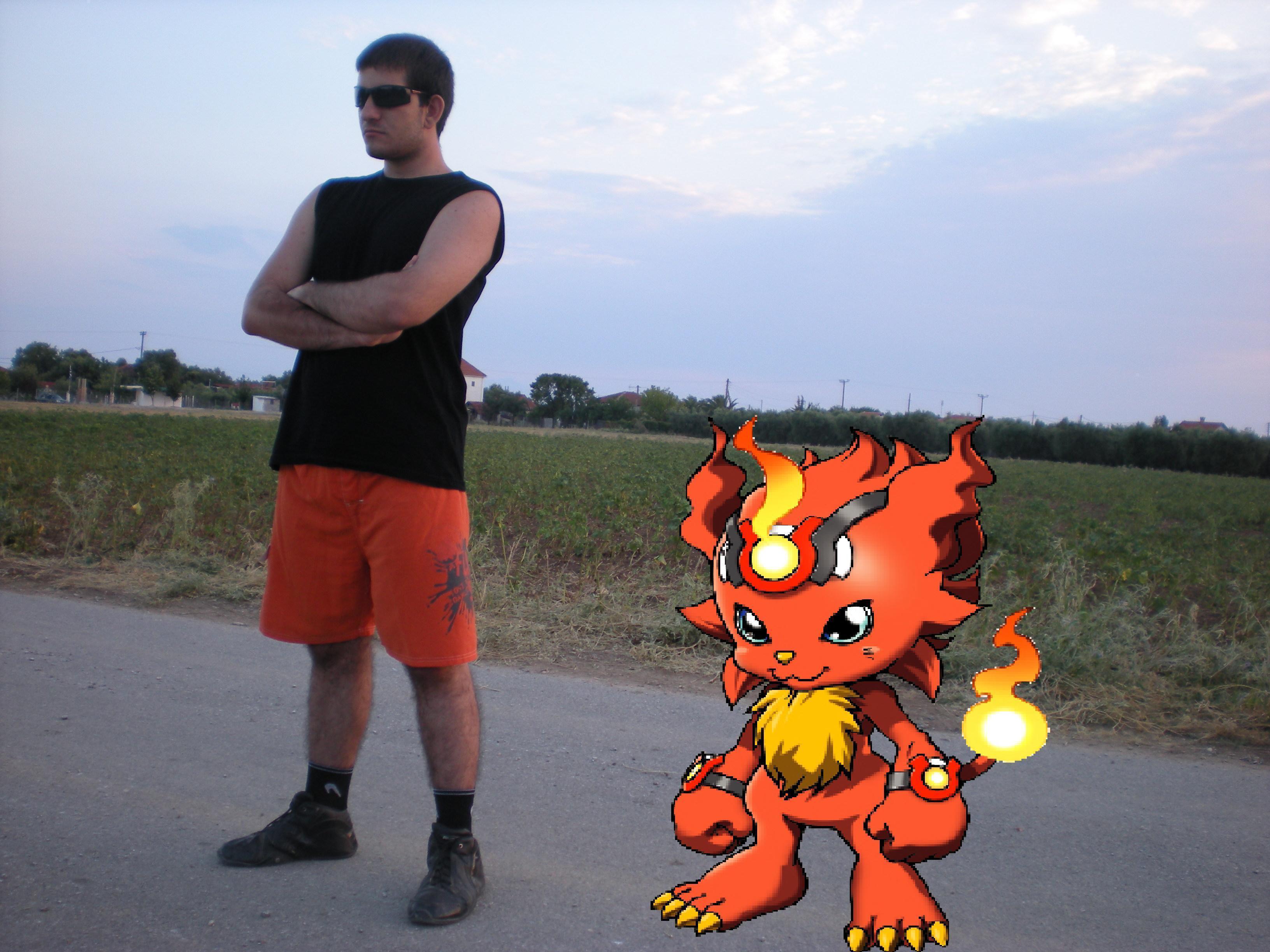 Digimon and Tamer by Bigjim3D