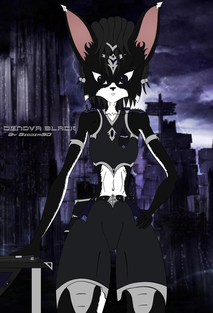 Jenova Black character illustration by Bigjim3D
