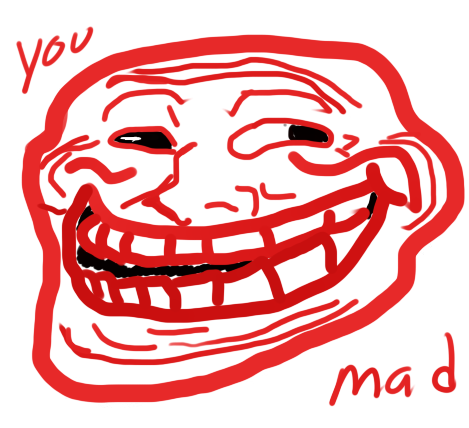 Evil Red Troll Face by BillyfabianCow