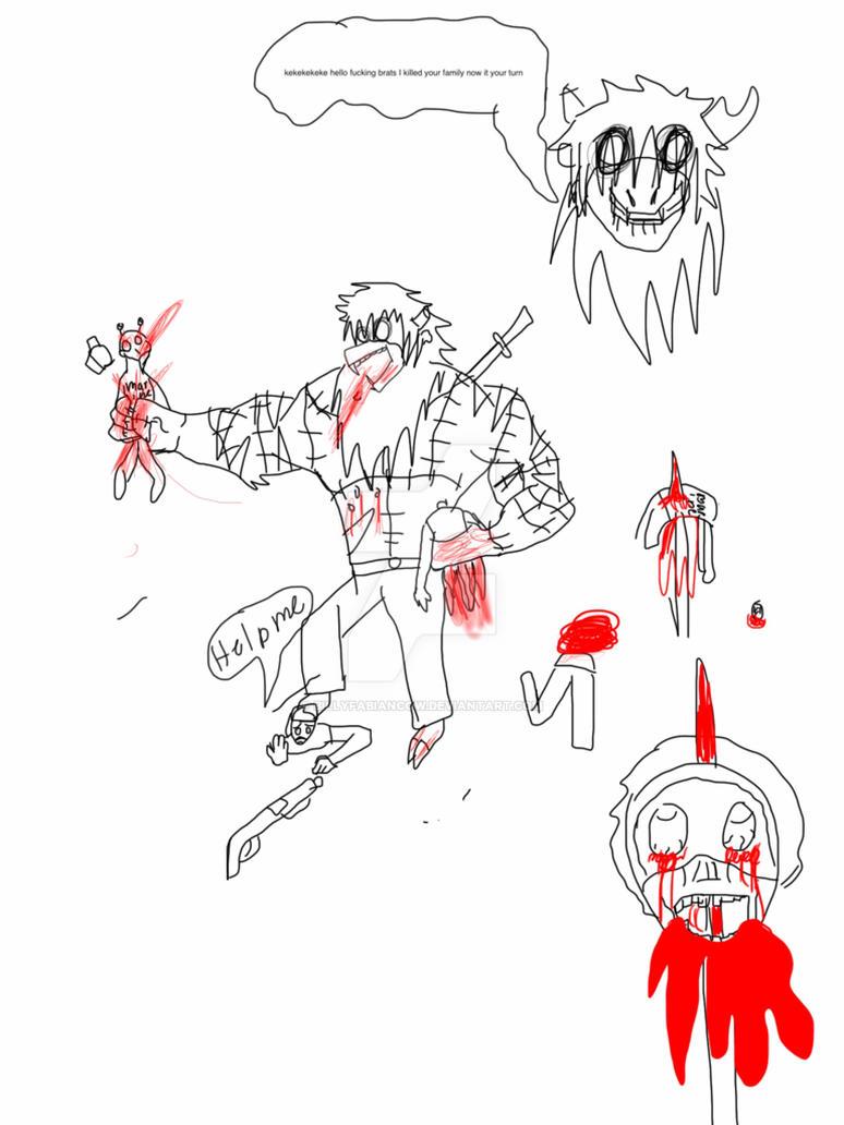 Crandon the monster serial killer reindeer by BillyfabianCow