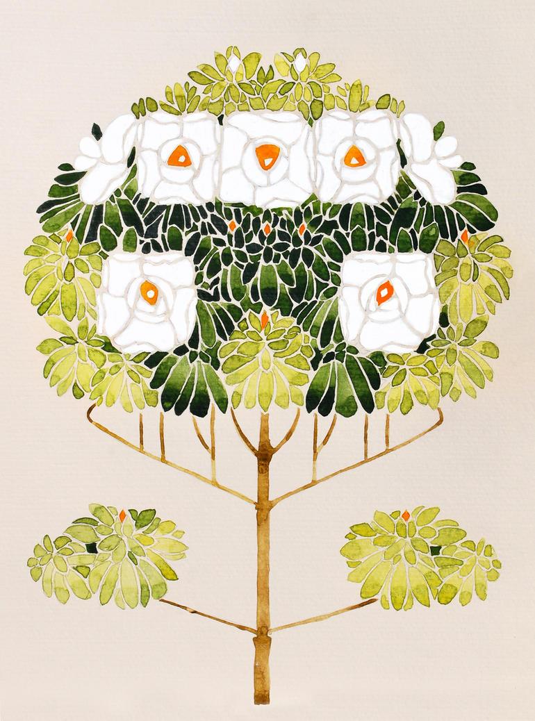 Art Nouveau Flowers by natalia-virlan